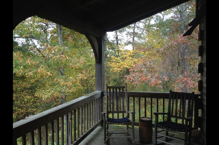Tranquil back deck